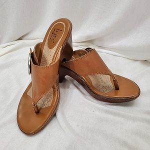 Tan BOC wedge sandal size 8